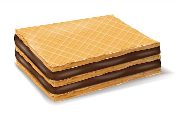 Biscotti al cioccolato con cialde Vettore Premium