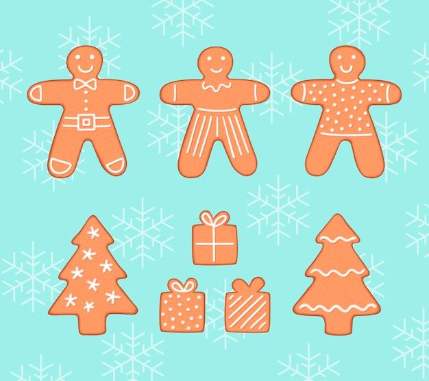 Biscotti di panpepato confezione natalizia Vettore Premium