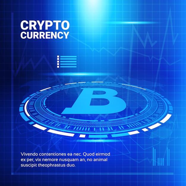 Bitcoin grafici Vettore Premium