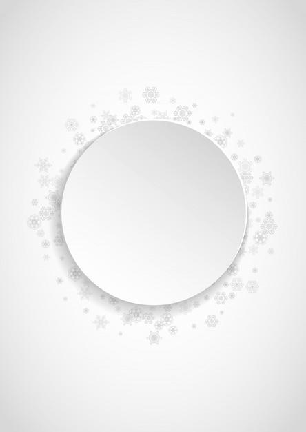 Blocco per grafici dei fiocchi di neve sul fondo del libro bianco Vettore Premium