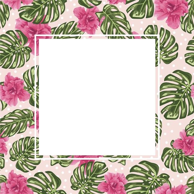 Blocco per grafici dei fiori rosa Vettore gratuito