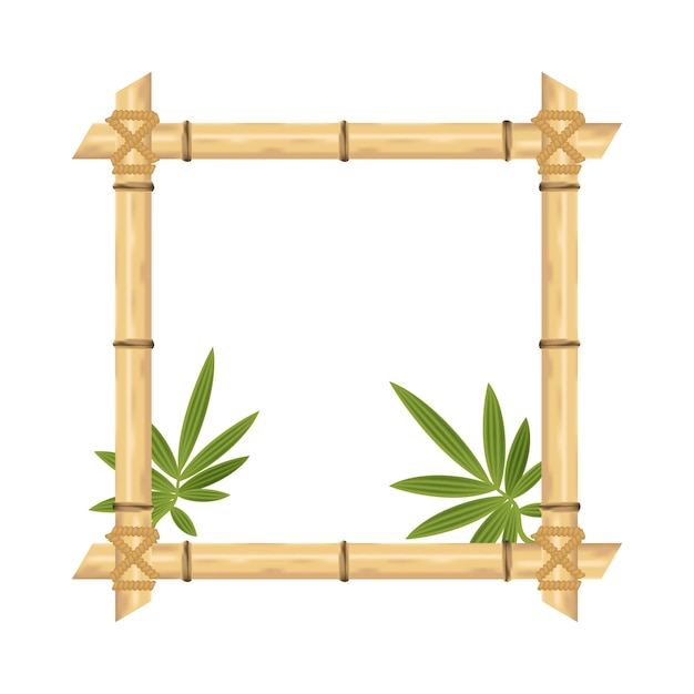 Blocco per grafici di bambù realistico isolato su bianco. illustrazioni vettoriali. Vettore Premium