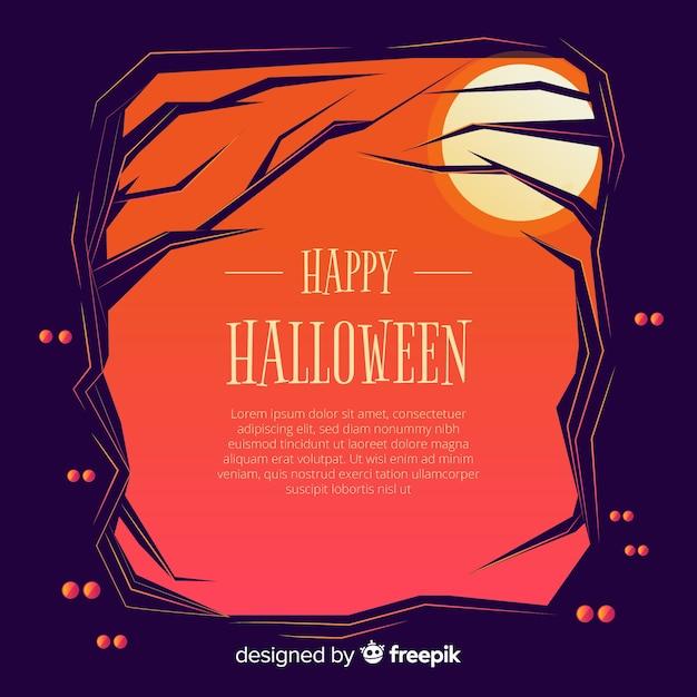Blocco per grafici ornamentale di halloween disegnato a mano Vettore gratuito