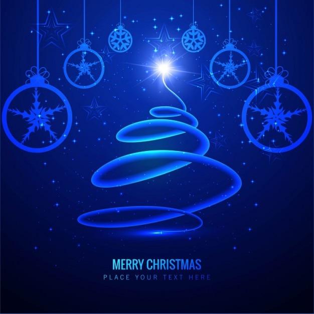 Blu Elettrico Albero Di Natale Sfondo Scaricare Vettori Gratis