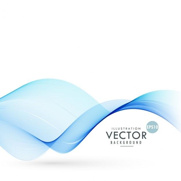 blu liscio onda sfondo illustrazione Vettore gratuito