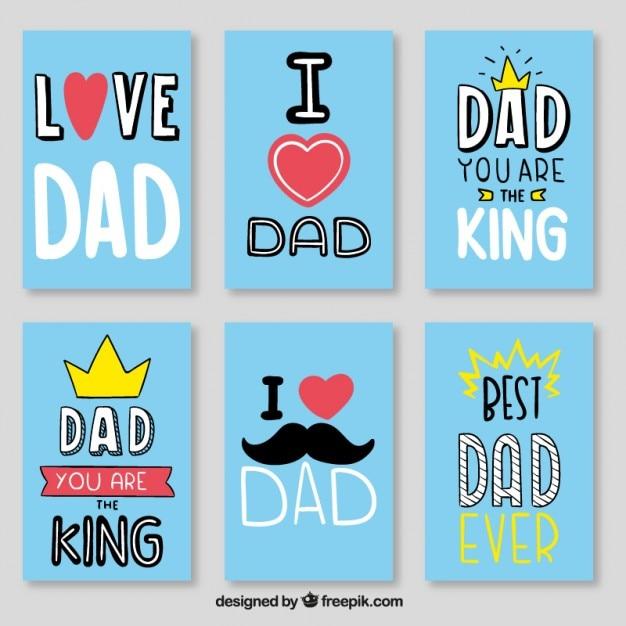 Blu miglior set carta papà Vettore gratuito