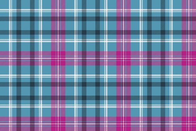 Blu rosa check plaid senza cuciture Vettore Premium