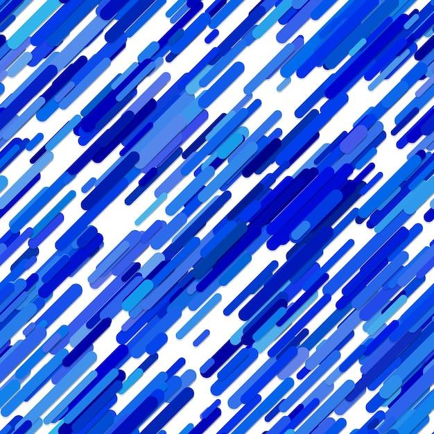 Blue background casuale diagonale pattern di sfondo - disegno vettoriale trendy da strisce arrotondate su sfondo bianco Vettore Premium