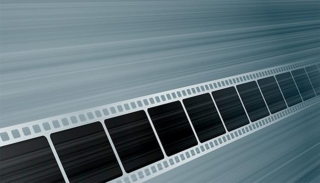 Bobina della striscia di pellicola di moview nel fondo di prospettiva Vettore gratuito