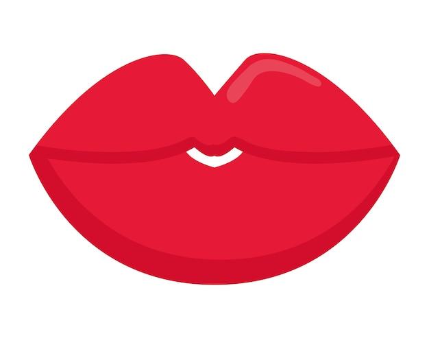 Bocca labbra cartone animato femmina sexy parte del corpo