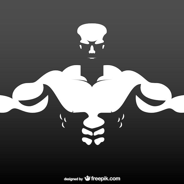 Bodybuilder illustrazione libero Vettore gratuito