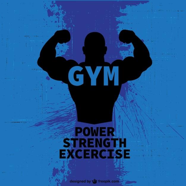 Bodybuilder libero logo Vettore gratuito