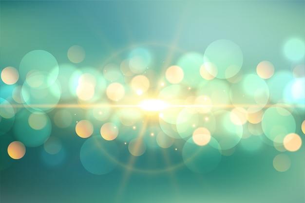 Bokeh adorabile con il fondo leggero del chiarore Vettore gratuito