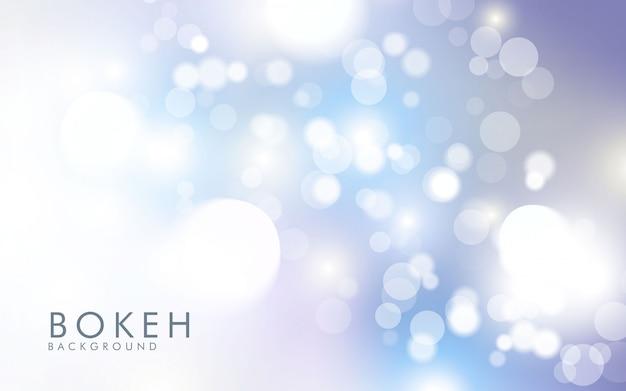 Bokeh argento chiaro astratto Vettore Premium