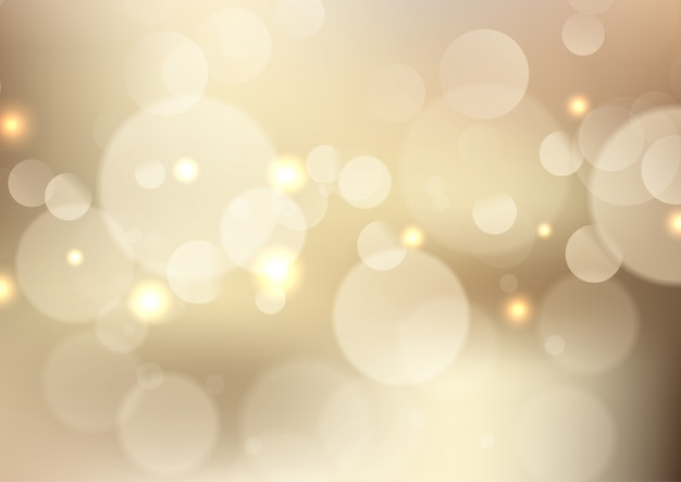 Bokeh dorato illumina la priorità bassa Vettore gratuito