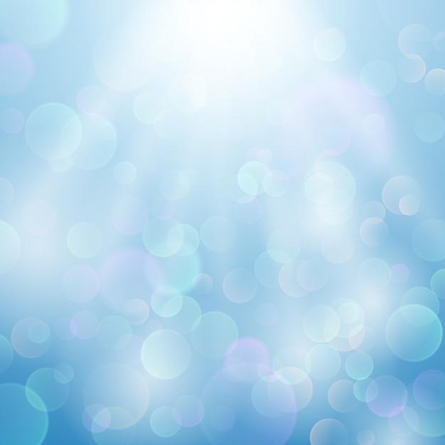 Bokeh sfocato sfondo vettoriale leggero Vettore Premium