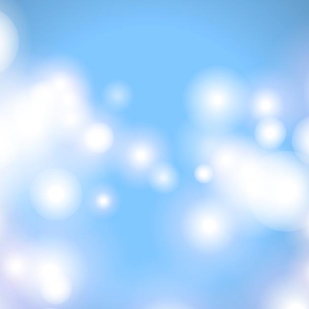 Bokeh sfondo blu Vettore gratuito