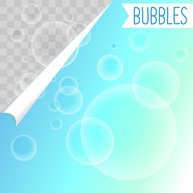 Bolle di sapone bianco shampoo clipart Vettore gratuito