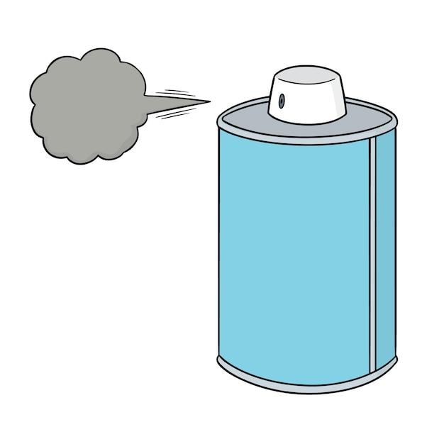 Bomboletta spray del fumetto Vettore Premium