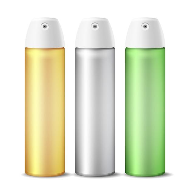 Bomboletta spray realistica per deodorante per ambienti Vettore Premium
