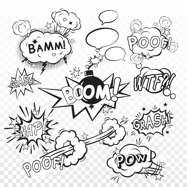Boom del fumetto Vettore gratuito