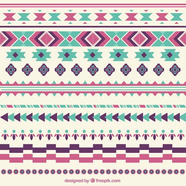 Bordi decorativi astratti stabiliti in stile etnico for Bordi decorativi