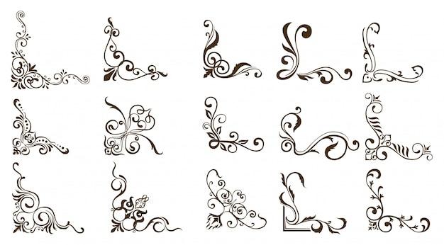 Bordi ornamentali Vettore Premium