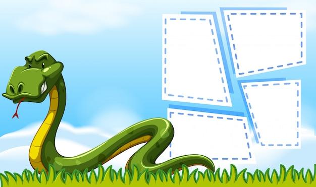 Bordo di serpente cornici copyspace Vettore gratuito