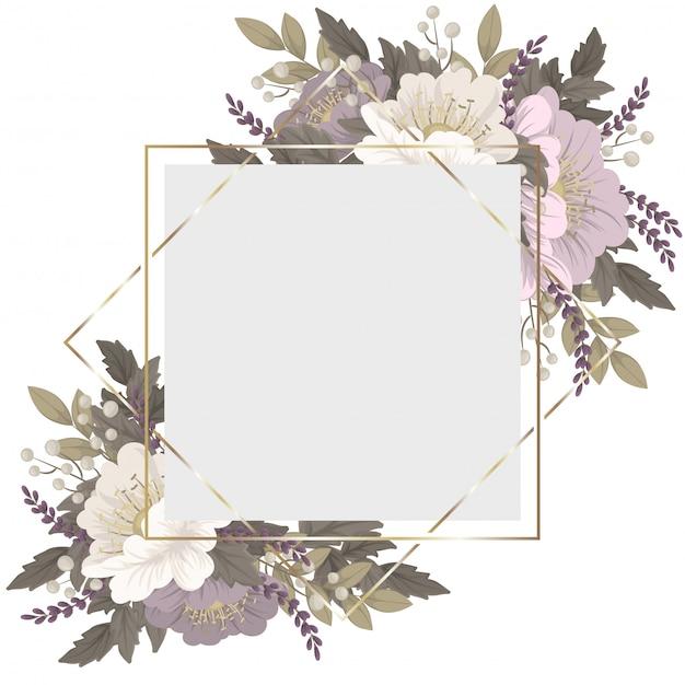 Bordo floreale rosa e bianco Vettore gratuito