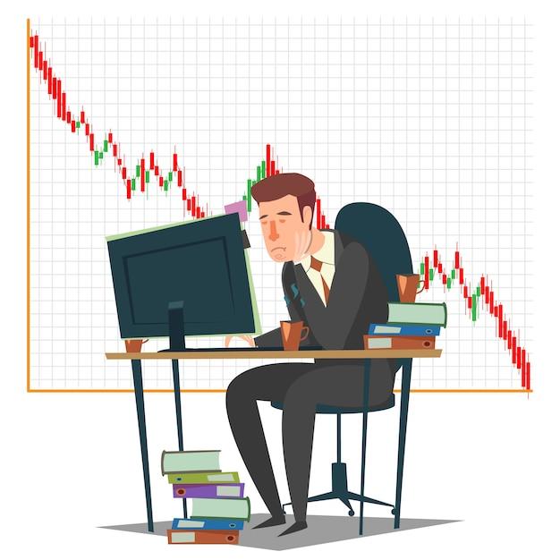 Borsa, investimenti e negoziazione Vettore Premium