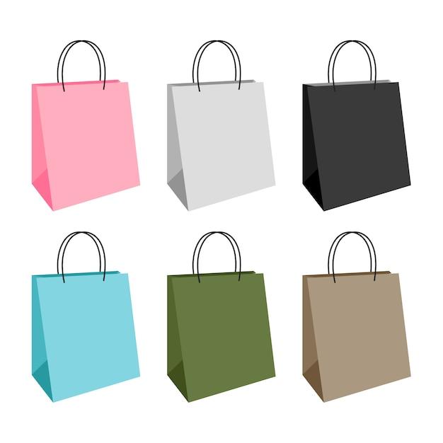 Borsa shopping design Vettore Premium