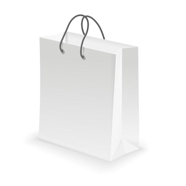Borsa shopping vuota bianca Vettore Premium