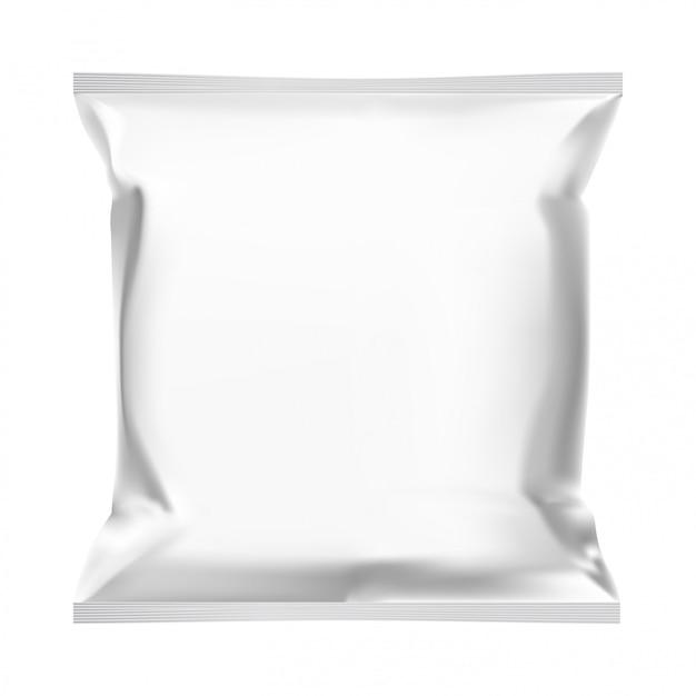 Borsa snack, modello di custodia per alimenti Vettore Premium