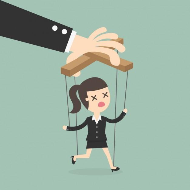 Boss manipolare un dipendente Vettore gratuito