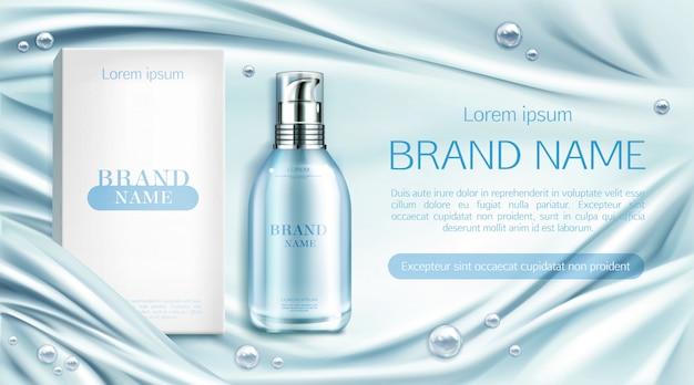 Bottiglia di cosmetici spa prodotto di bellezza naturale Vettore gratuito