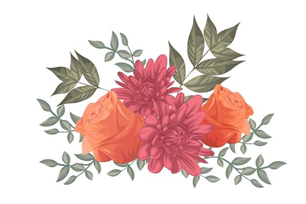 Bouquet floreale vintage Vettore gratuito