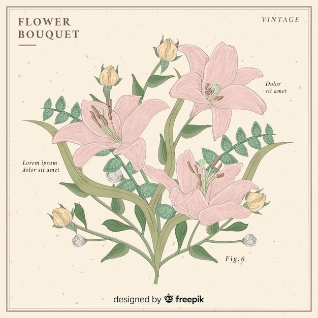 Bouquet vintage Vettore gratuito