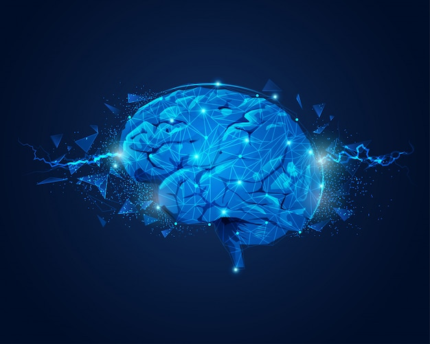 Brain power Vettore Premium