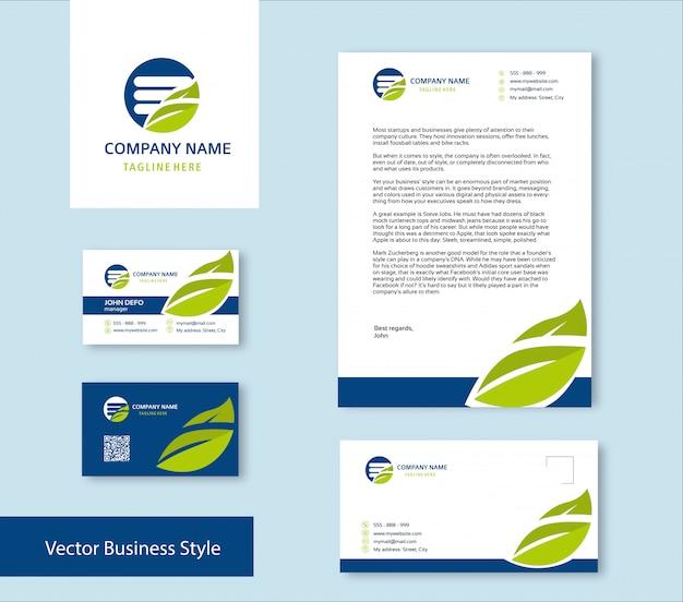 Branding identity set Vettore Premium