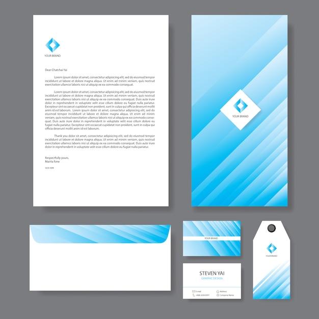 Branding identity template design aziendale aziendale Vettore Premium