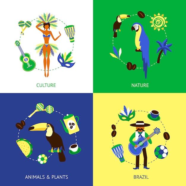 Brasile design concept Vettore gratuito
