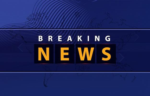 Breaking news background Vettore gratuito