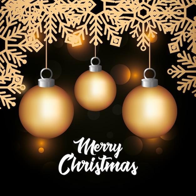 Brillante cartolina natalizia Vettore Premium