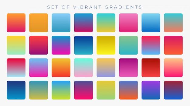Brillante vibrante insieme di gradienti di sfondo Vettore gratuito