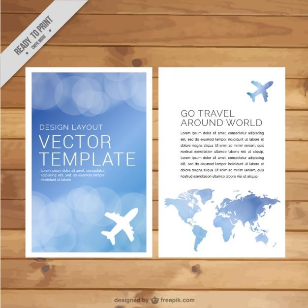 Brochure Agenzia Viaggi Scaricare Vettori Gratis