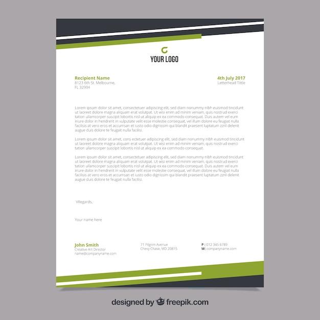Brochure aziendale con forme nere e verdi Vettore gratuito