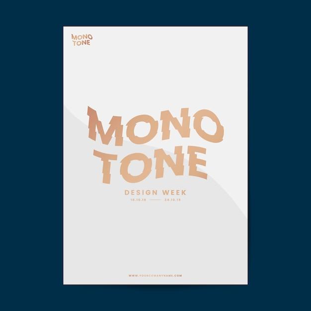 Brochure aziendale e modello di poster Vettore gratuito