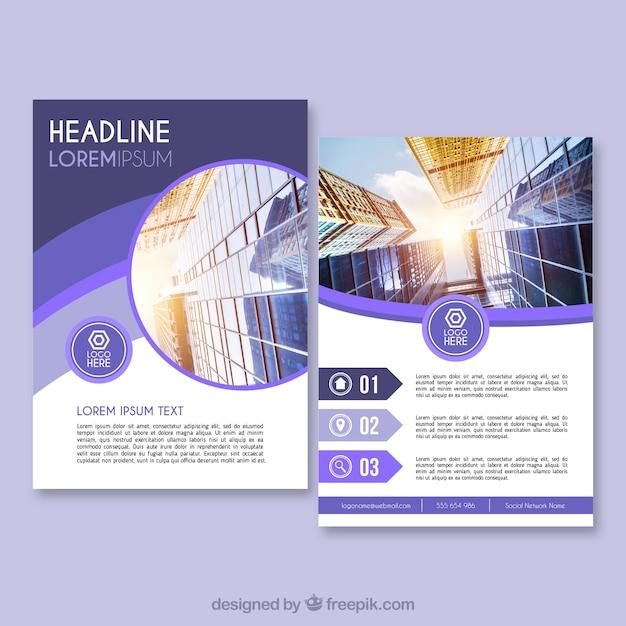 brochure aziendale in formato a5 con stile piatto scaricare