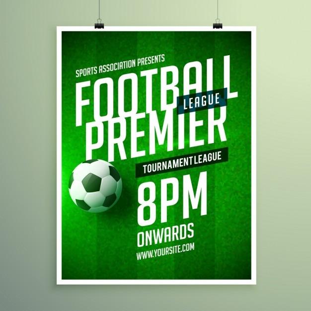 Brochure campionato di calcio, invito modello Vettore gratuito