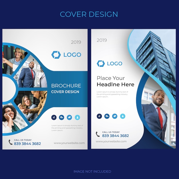 Brochure cover design Vettore Premium
